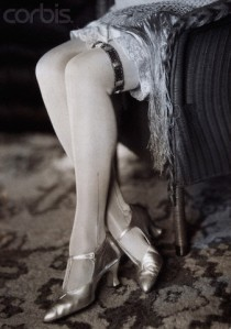 Woman's Legs with Metal Garter